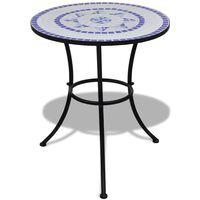 vidaXL kék és fehér mozaik bisztró asztal 60 cm