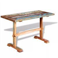 vidaXL tömör újrahasznosított fa étkezőasztal talppal 120 x 58 x 78 cm