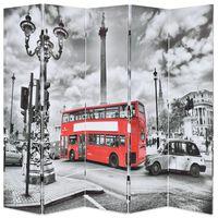 vidaXL fekete-fehér londoni busz mintás paraván 200 x 170 cm