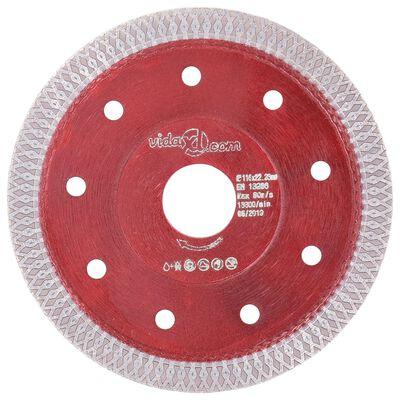 vidaXL gyémánt vágókorong furatos acéllal 115 mm