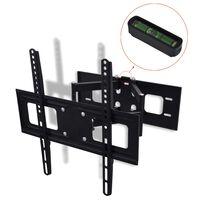 Kétkarú dönthető és fordítható falra szerelhető TV tartó 3D 400 x 400 mm