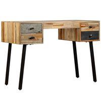 vidaXL tömör újrahasznosított fa íróasztal 110 x 50 x 76 cm