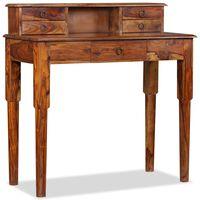 vidaXL tömör kelet-indiai rózsafa íróasztal 5 fiókkal 90 x 40 x 90 cm