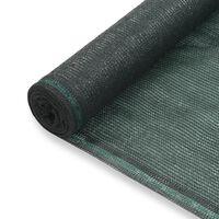 vidaXL zöld HDPE teniszháló 1,4 x 100 m