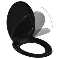 vidaXL fekete gyorsan szerelhető WC-ülőke lassan csukódó fedéllel