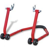 vidaXL piros hátsó motorkerékpár állvány