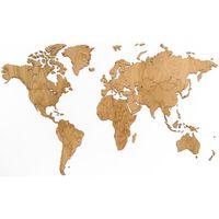 MiMi Innovations Exclusive tölgyfa világtérkép falidísz 130 x 78 cm