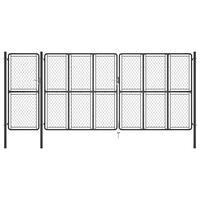 vidaXL antracitszürke acél kertkapu 175 x 495 cm