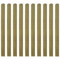vidaXL 20 db impregnált fa kerítésléc 120 cm