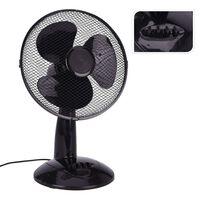 Excellent Electrics fekete 45 W-os asztali ventilátor