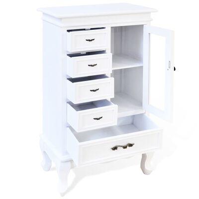 vidaXL fehér 5 fiókos 2 polcos szekrény