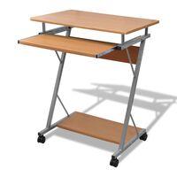 Computer Iróasztal KIhuzható Tálcás Office Diák Asztal Barna