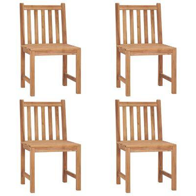 vidaXL 4 db tömör tíkfa kerti szék párnával