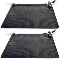 Intex 28685 2 db fekete napelemmel fűtött PVC szőnyeg 1,2 x 1,2 m