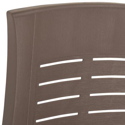 vidaXL 2 db mokka színű dönthető műanyag kerti szék