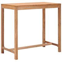 vidaXL tömör tíkfa kerti bárasztal 110 x 60 x 105 cm