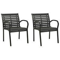 vidaXL 2 darab szürke fa kerti szék