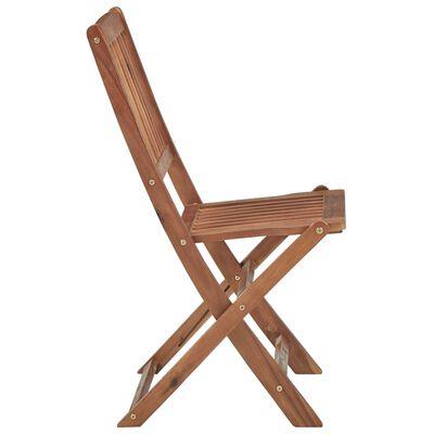 vidaXL 2 db összecsukható tömör akácfa kerti szék párnákkal