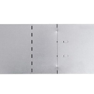 15 db hajlékony horganyzott acél gyep kerítés szett 100 x 14 cm