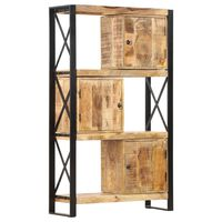 vidaXL tömör mangófa könyvespolc 90 x 30 x 150 cm