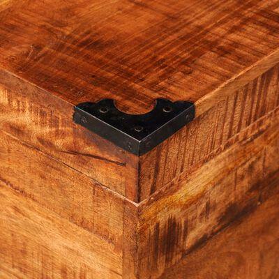 vidaXL kocka alakú nyers mangófa tárolóláda