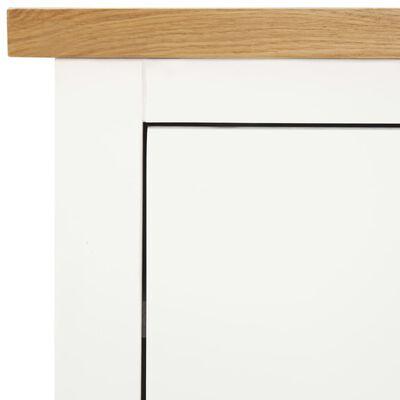 vidaXL tömör tölgyfa komód 80 x 35 x 75 cm
