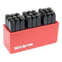 YATO 27 részes betűbeütő készlet 6 mm