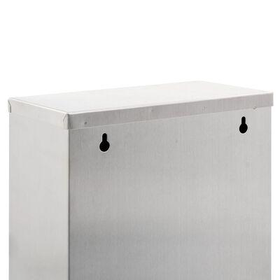 vidaXL ezüstszínű rozsdamentes acél szelektív szemeteskuka 24 L