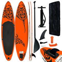 vidaXL narancssárga felfújható állószörfszett 320 x 76 x 15 cm