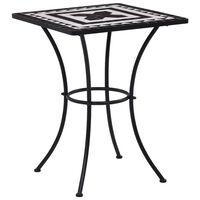 vidaXL fekete és fehér kerámia mozaikos bisztróasztal 60 cm
