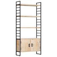 vidaXL 4-szintes tömör mangófa könyvespolc 80 x 30 x 180 cm
