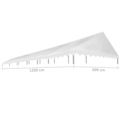vidaXL fehér rendezvénysátor tető 450 g/m² 6 x 12 m