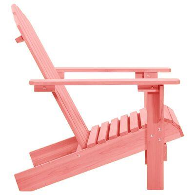 vidaXL rózsaszín tömör fenyőfa kerti Adirondack szék
