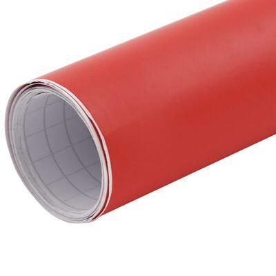 vidaXL matt piros autófólia 200 x 152 cm