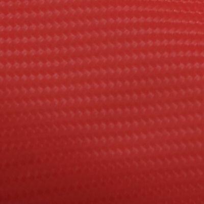 vidaXL matt piros 4D autófólia 200 x 152 cm, Red