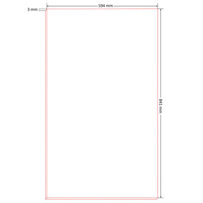 vidaXL 20 db DIN A1 méretű HDF plakátlap 841 x 594 x 3 mm