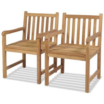 vidaXL 2 db tömör tíkfa kültéri szék
