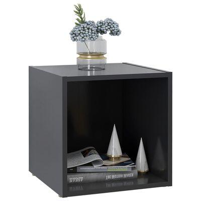 vidaXL szürke forgácslap TV-szekrény 37 x 35 x 37 cm