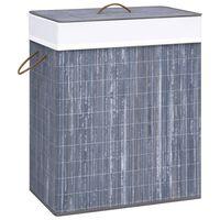 vidaXL szürke bambusz szennyestartó kosár 83 L