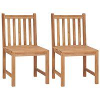 vidaXL 2 db tömör tíkfa kerti szék