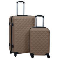 vidaXL 2 db barna ABS keményfalú gurulós bőrönd