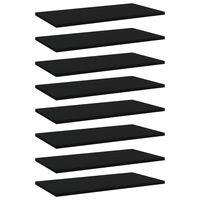vidaXL 8 db fekete forgácslap könyvespolc 60 x 30 x 1,5 cm