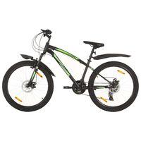 vidaXL 21 sebességes fekete mountain bike 26 hüvelykes kerékkel 36 cm