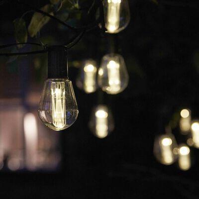 Luxform Alicante napenergiával működő átlátszó partilámpák 10 LED-del