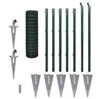 vidaXL Euro Fence zöld acélkerítés 10 x 1,0 m