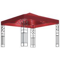 vidaXL bordó pavilon fényfüzérrel 3 x 3 m
