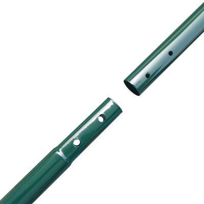 vidaXL zöld drótkerítés póznákkal 1,97 x 15 m