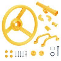 vidaXL sárga tartozékkészlet játéktoronyhoz