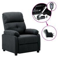 vidaXL sötétszürke szövet dönthető elektromos fotel