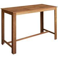 vidaXL tömör akácfa bárasztal 150 x 70 x 105 cm